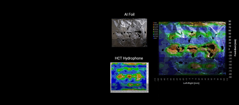 Onda HTC Hydrophone and Foil Mapping Comparison